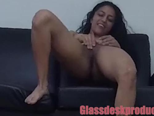 Woman was so much enjoyment on the couch