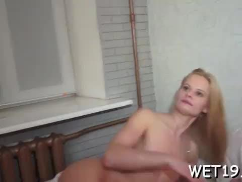 Lovely sweetheart gets her twat and anal tunnel thoroughly fucked