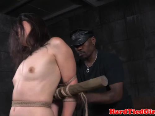 Bdsm sub whipped with enormous rod by maledom
